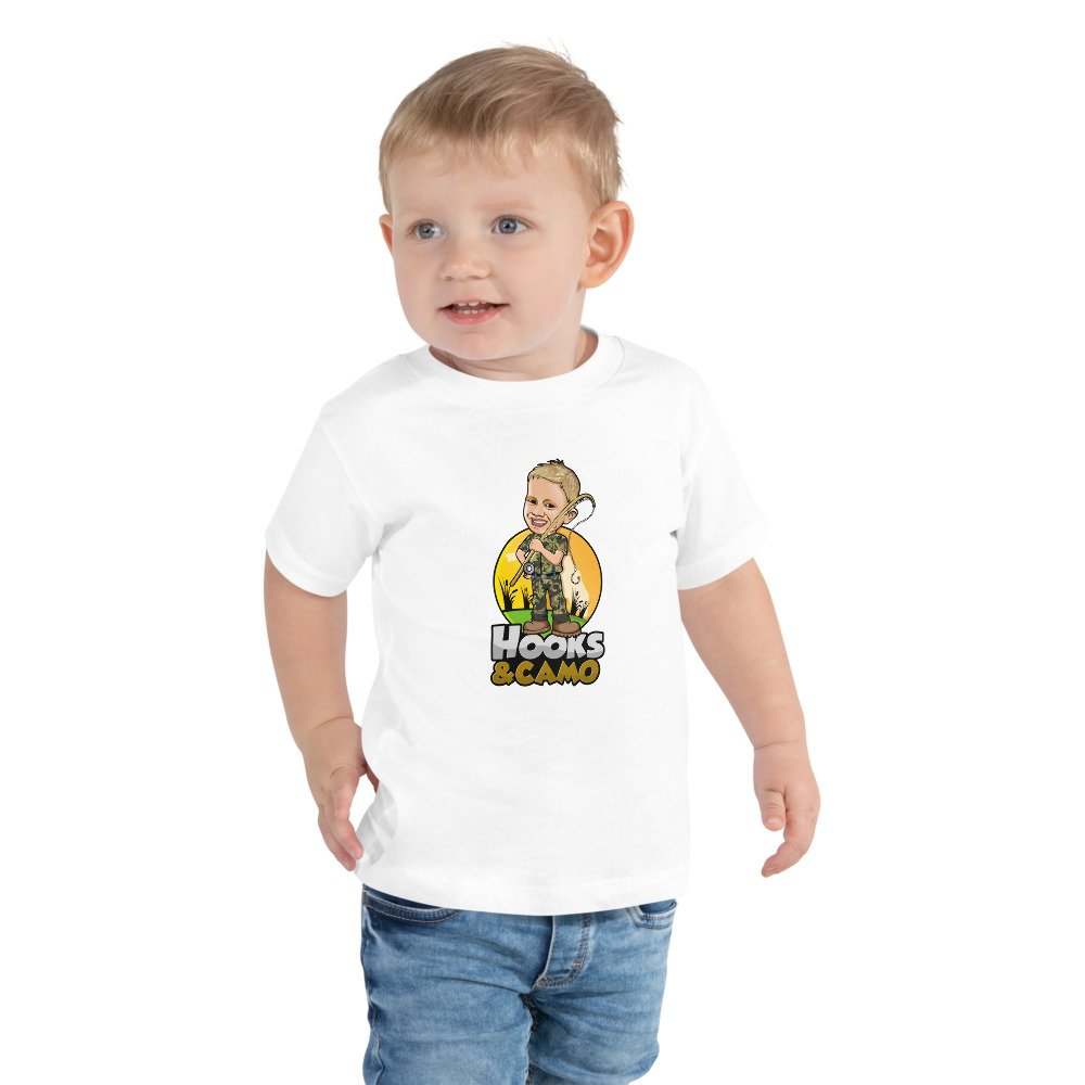 Hooks & Camo Toddler Shirt